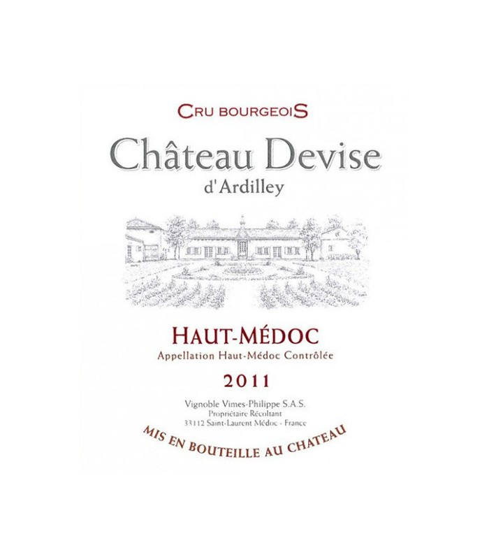 Château Devise d'Ardilley 2011, Haut-Médoc Cru Bourgeois